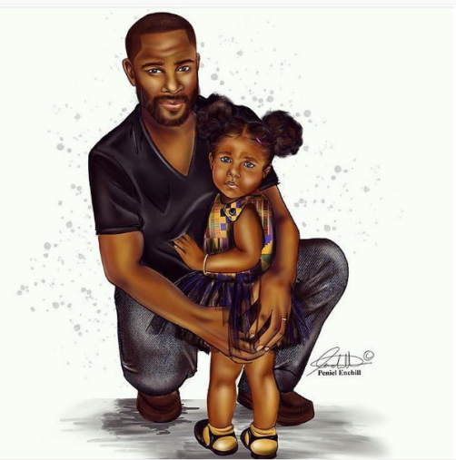 Father-daughter moment. Compliments of the talented Peniel Enchill (check her out: www.penielenchill.com)