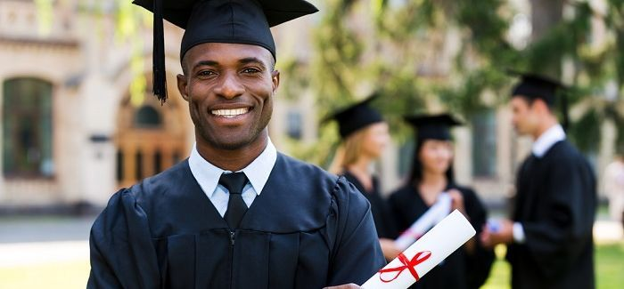 African Students Abroad - Anthony on graduation